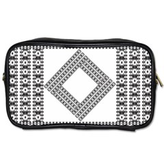 Pattern Background Texture Black Toiletries Bags 2 Side by BangZart