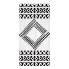 Pattern Background Texture Black Shower Curtain 36  X 72  (stall)