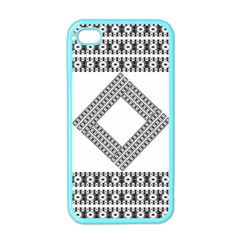 Pattern Background Texture Black Apple Iphone 4 Case (color) by BangZart
