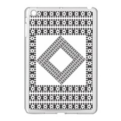 Pattern Background Texture Black Apple Ipad Mini Case (white)
