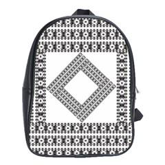 Pattern Background Texture Black School Bags (xl)  by BangZart