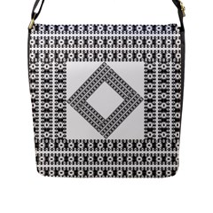 Pattern Background Texture Black Flap Messenger Bag (l)  by BangZart