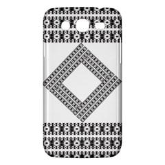 Pattern Background Texture Black Samsung Galaxy Mega 5 8 I9152 Hardshell Case  by BangZart