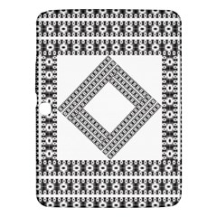 Pattern Background Texture Black Samsung Galaxy Tab 3 (10 1 ) P5200 Hardshell Case  by BangZart