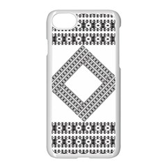 Pattern Background Texture Black Apple Iphone 7 Seamless Case (white) by BangZart