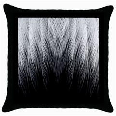 Feather Graphic Design Background Throw Pillow Case (black) by BangZart