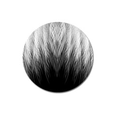 Feather Graphic Design Background Magnet 3  (round)