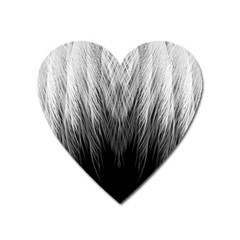 Feather Graphic Design Background Heart Magnet by BangZart