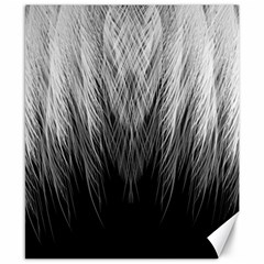 Feather Graphic Design Background Canvas 8  X 10