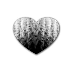 Feather Graphic Design Background Heart Coaster (4 Pack)  by BangZart