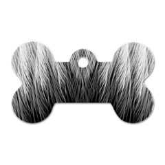 Feather Graphic Design Background Dog Tag Bone (one Side)
