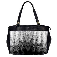 Feather Graphic Design Background Office Handbags (2 Sides)  by BangZart