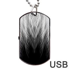 Feather Graphic Design Background Dog Tag Usb Flash (one Side)