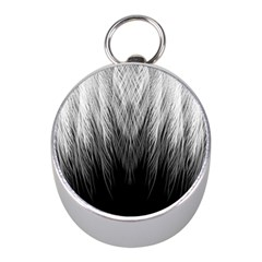 Feather Graphic Design Background Mini Silver Compasses