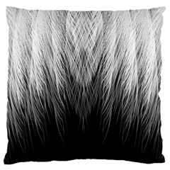 Feather Graphic Design Background Large Flano Cushion Case (one Side) by BangZart