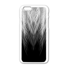 Feather Graphic Design Background Apple Iphone 6/6s White Enamel Case by BangZart