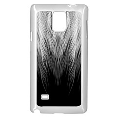 Feather Graphic Design Background Samsung Galaxy Note 4 Case (white)