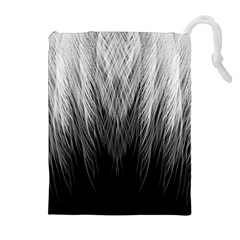 Feather Graphic Design Background Drawstring Pouches (extra Large)