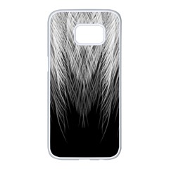 Feather Graphic Design Background Samsung Galaxy S7 Edge White Seamless Case by BangZart