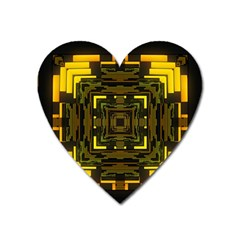 Abstract Glow Kaleidoscopic Light Heart Magnet by BangZart