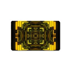 Abstract Glow Kaleidoscopic Light Magnet (name Card) by BangZart