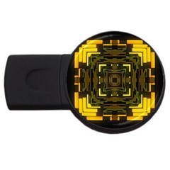Abstract Glow Kaleidoscopic Light Usb Flash Drive Round (2 Gb) by BangZart