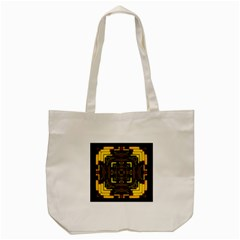 Abstract Glow Kaleidoscopic Light Tote Bag (cream) by BangZart