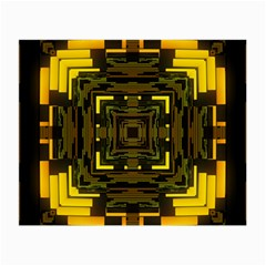 Abstract Glow Kaleidoscopic Light Small Glasses Cloth by BangZart