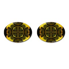 Abstract Glow Kaleidoscopic Light Cufflinks (oval) by BangZart