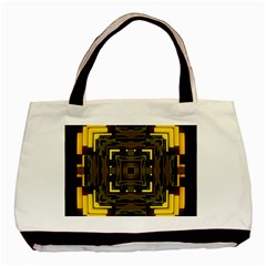 Abstract Glow Kaleidoscopic Light Basic Tote Bag by BangZart