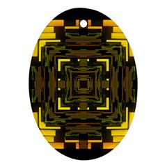 Abstract Glow Kaleidoscopic Light Oval Ornament (two Sides)