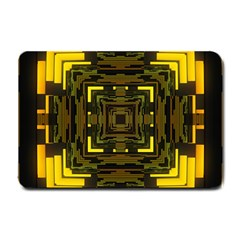 Abstract Glow Kaleidoscopic Light Small Doormat  by BangZart
