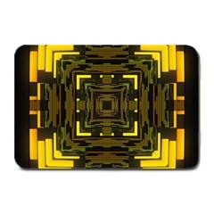Abstract Glow Kaleidoscopic Light Plate Mats by BangZart