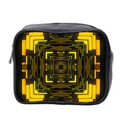 Abstract Glow Kaleidoscopic Light Mini Toiletries Bag 2 Side