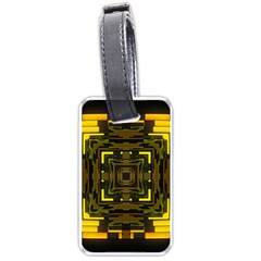 Abstract Glow Kaleidoscopic Light Luggage Tags (one Side)