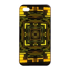 Abstract Glow Kaleidoscopic Light Apple Iphone 4/4s Seamless Case (black) by BangZart
