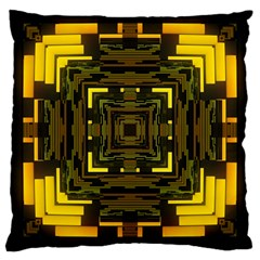 Abstract Glow Kaleidoscopic Light Large Cushion Case (two Sides) by BangZart