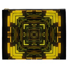 Abstract Glow Kaleidoscopic Light Cosmetic Bag (xxxl)  by BangZart