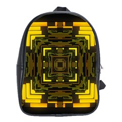 Abstract Glow Kaleidoscopic Light School Bags (xl)  by BangZart