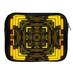 Abstract Glow Kaleidoscopic Light Apple Ipad 2/3/4 Zipper Cases
