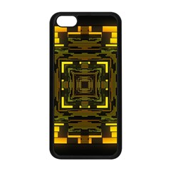 Abstract Glow Kaleidoscopic Light Apple Iphone 5c Seamless Case (black)