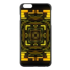 Abstract Glow Kaleidoscopic Light Apple Iphone 6 Plus/6s Plus Black Enamel Case by BangZart