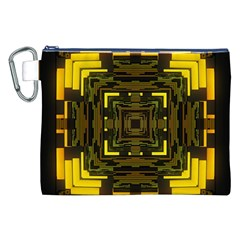 Abstract Glow Kaleidoscopic Light Canvas Cosmetic Bag (xxl) by BangZart