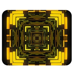 Abstract Glow Kaleidoscopic Light Double Sided Flano Blanket (medium)  by BangZart