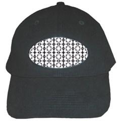 Pattern Background Texture Black Black Cap by BangZart