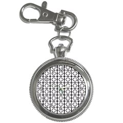 Pattern Background Texture Black Key Chain Watches by BangZart