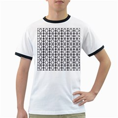 Pattern Background Texture Black Ringer T Shirts