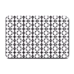 Pattern Background Texture Black Small Doormat  by BangZart