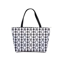 Pattern Background Texture Black Shoulder Handbags by BangZart