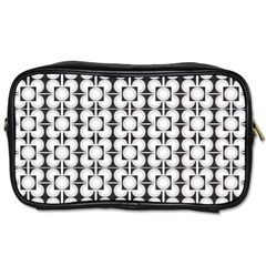Pattern Background Texture Black Toiletries Bags by BangZart